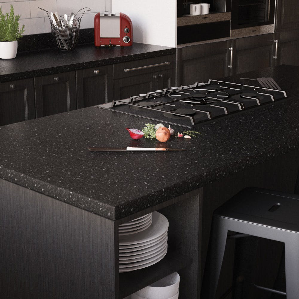 New Black Granite Matt Breakfast Bar (3000mm x 900m x 38mm)