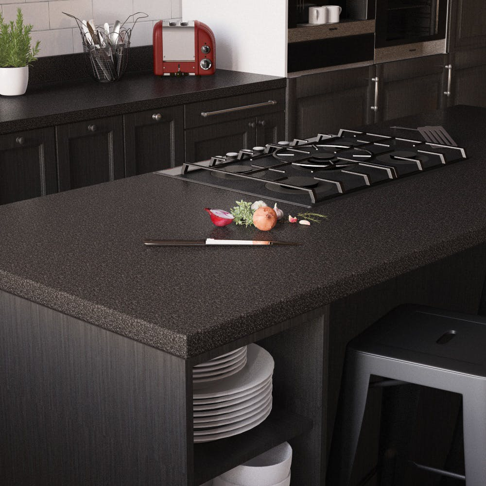 Black Charcoal Breakfast Bar (3000mm x 900mm x 38mm)