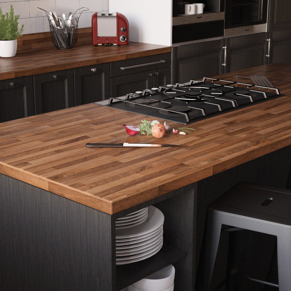 New Walnut Butcher Block Breakfast Bar (3000mm x 900m x 38mm)