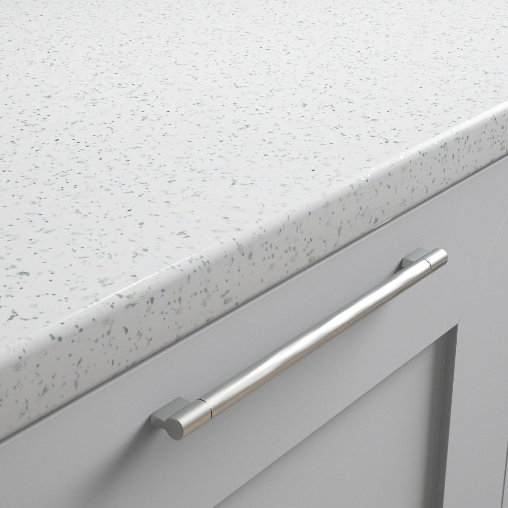 New Pure White Sparkle Worktop (3600mm x 600mm x38mm)