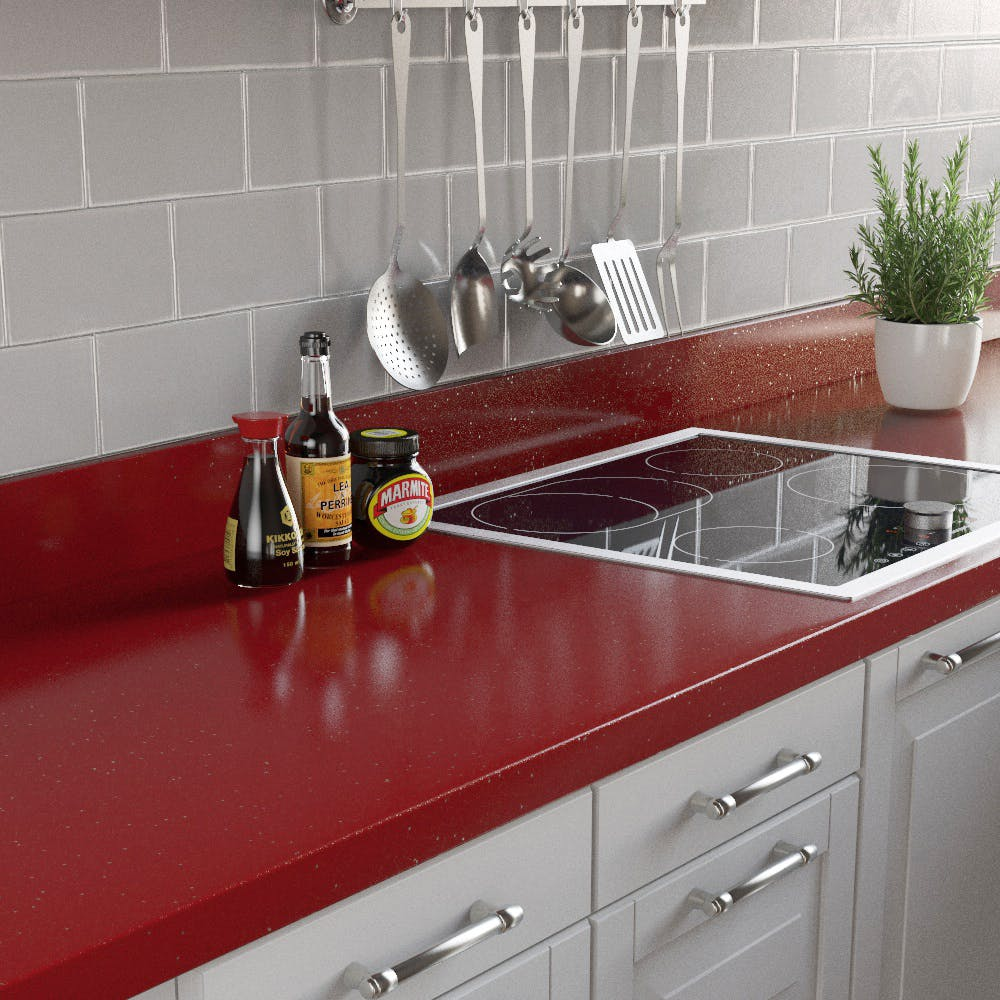 Rouge Sparkle Upstand (3000mm x 100mm x 20mm)