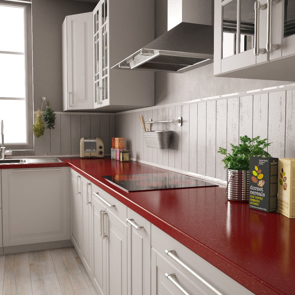 New Rouge Sparkle Worktop (3600mm x 600mm x 38mm)