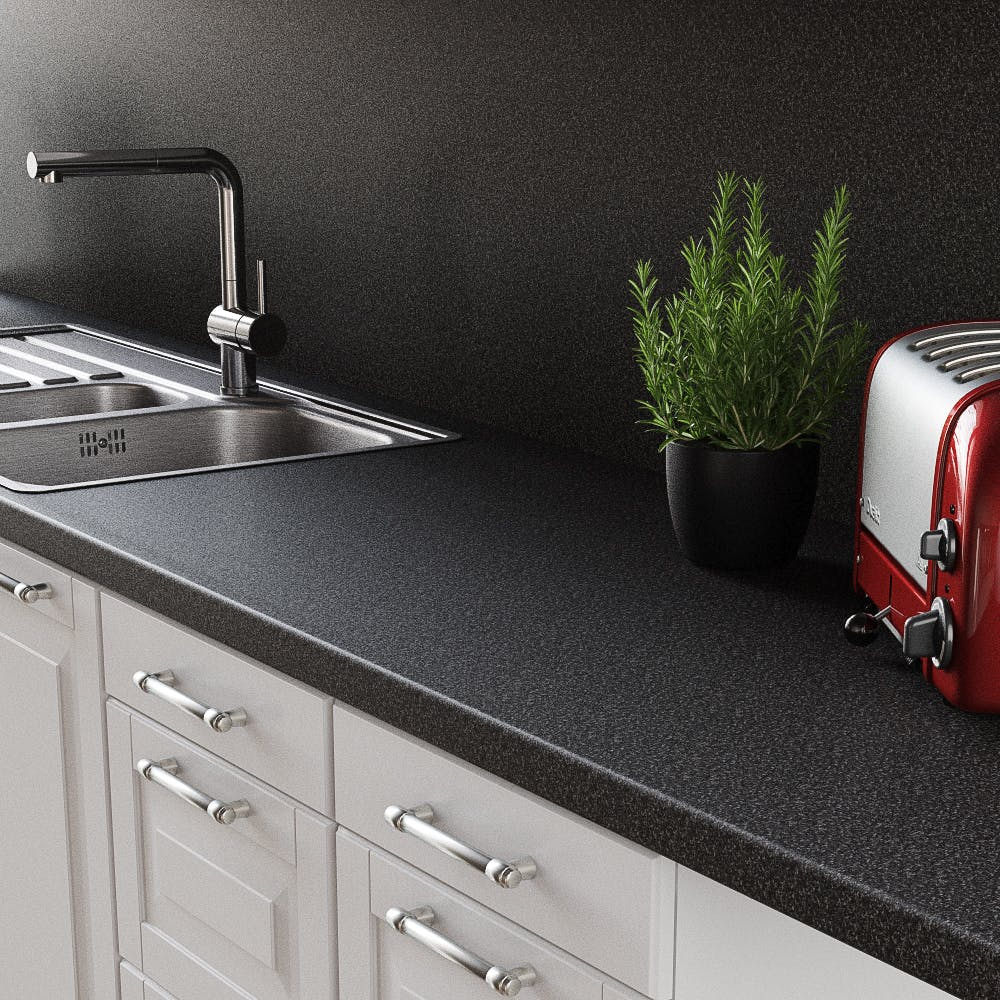Black Charcoal Splashback (3030mm x 1200mm x 11mm)