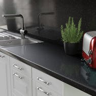 3000x460x11mm Senses Noir Sparkle Gloss Splashback