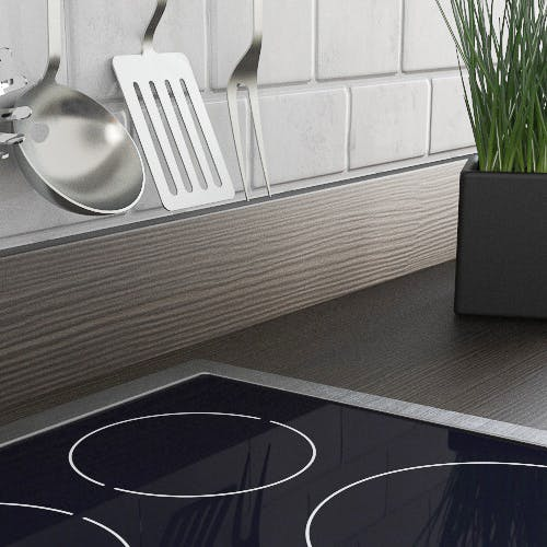 Avola Grey Woodgrain Textured Upstand (3000mm x 100m x 20mm)