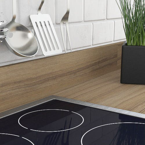 Coco Bolo Woodgrain Textured Upstand (3000mm x 100m x 20mm)