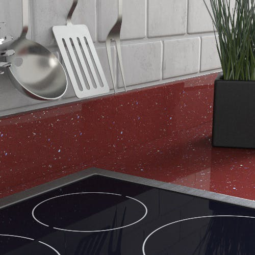 New Rouge Sparkle Upstand (3000mm x 100mm x 20mm)
