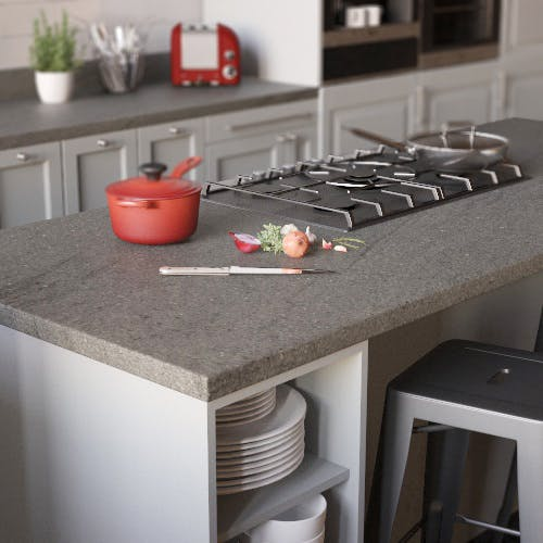 Ipanema Grey Matt Breakfast Bar (3000mm x 900m x 38mm)