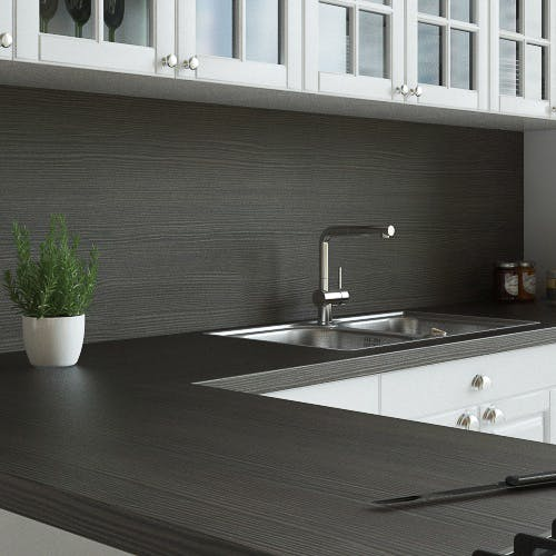 Avola Grey Woodgrain Textured Splashback (3000mm x 600mm x 11mm)