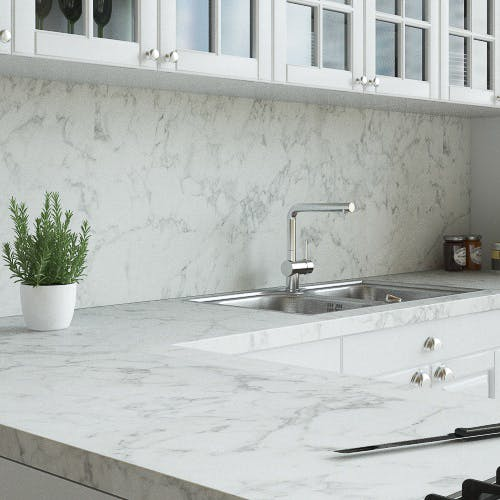 Carrera Marble Matt Splashback (3000mm x 1200m x 11mm)