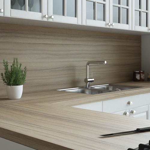 Coco Bolo Woodgrain Textured Splashback (3000mm x 1200m x 11mm)