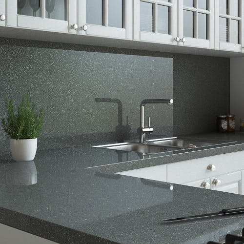 New Graphite Sparkle Splashback (3000mm x 1200mm x 11mm)