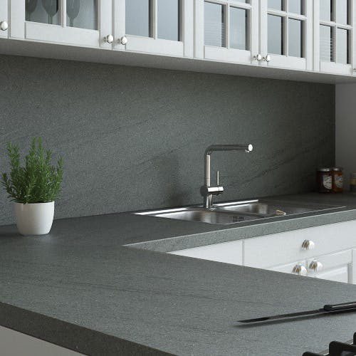 Ipanema Grey Matt Splashback (3000mm x 600mm x 11mm)