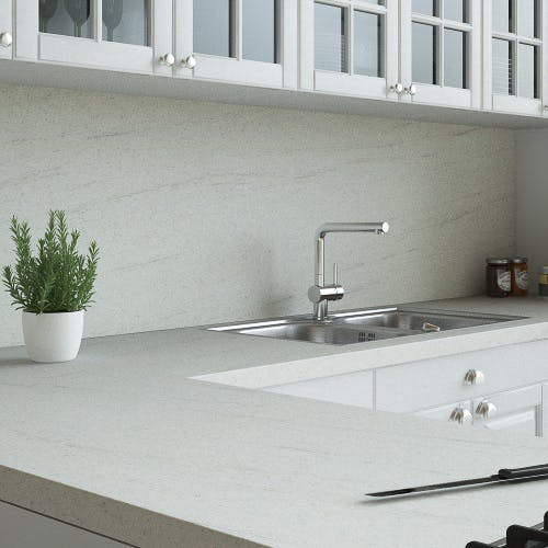 Ipanema White Matt Splashback (3000mm x 600mm x 11mm)