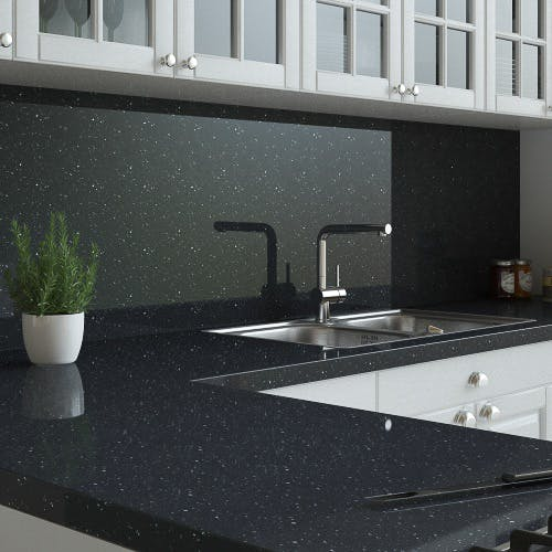 New Noir Sparkle Splashback (3030mm x 1200mm x 11mm)