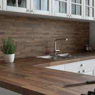 New Walnut Butchers Block Splashback (3000mm x 1200mm x 11mm)