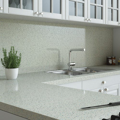 Sand Pebble Sparkle Splashback (3000mm x 1200mm x 11mm)