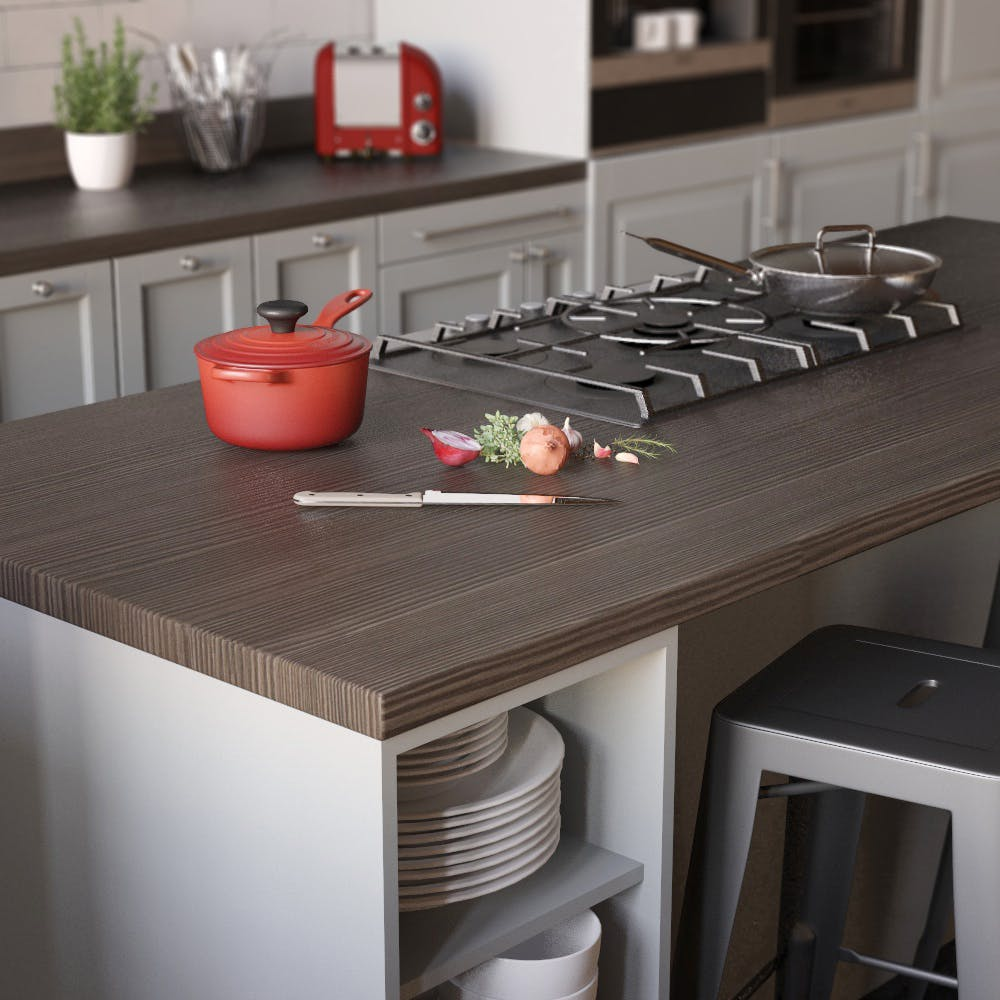 Avola Grey Woodgrain Textured Breakfast Bar (3000mm x 900m x 38mm)