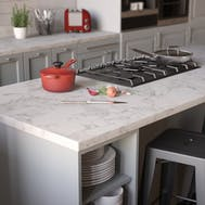 Carrara Marble Square Edge Matt Laminate Breakfast Bar