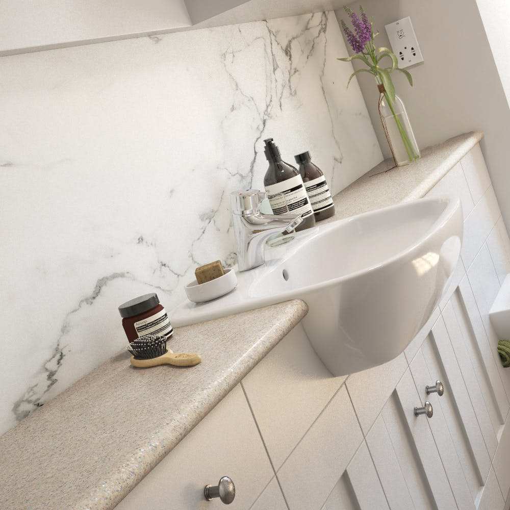 Sand Pebble Sparkle Bathroom Vanity Unit (1500mm x 320mm x 30mm)