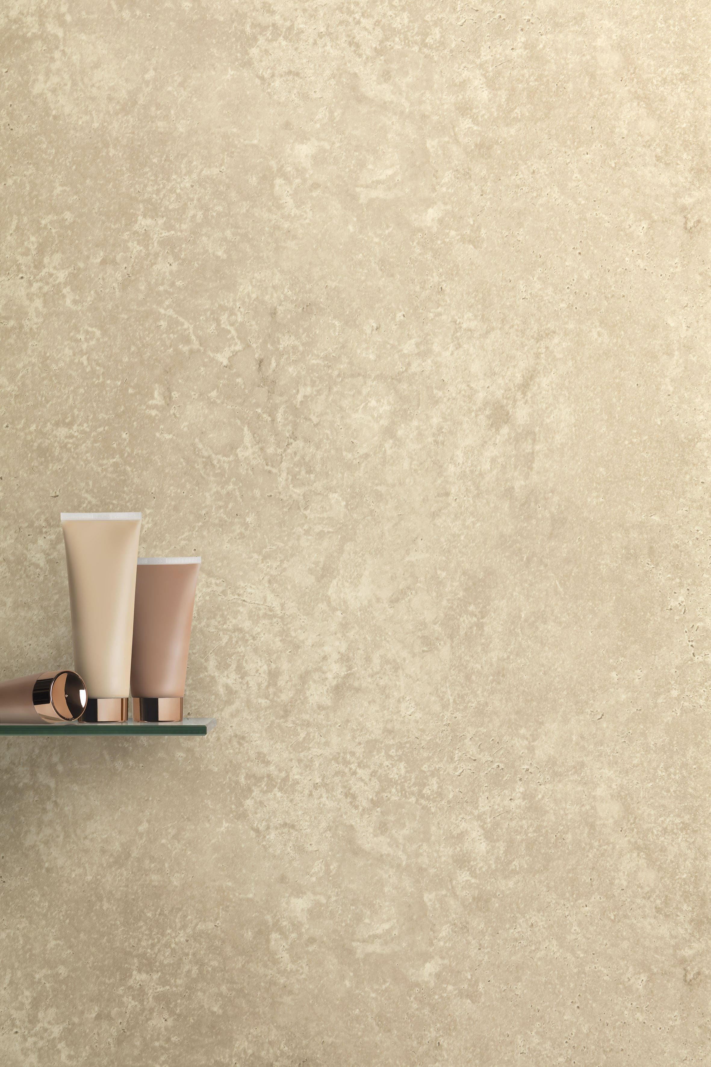 Max-Fit Beige Concrete PVC Shower Wall Panel (2400mm x 1000mm x 10mm)