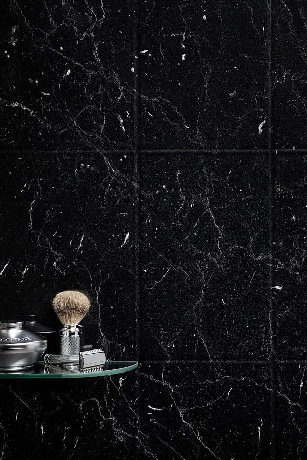 Versatile Black Marquina Wall Tile Panel (2420mm x 1220mm x 3mm)