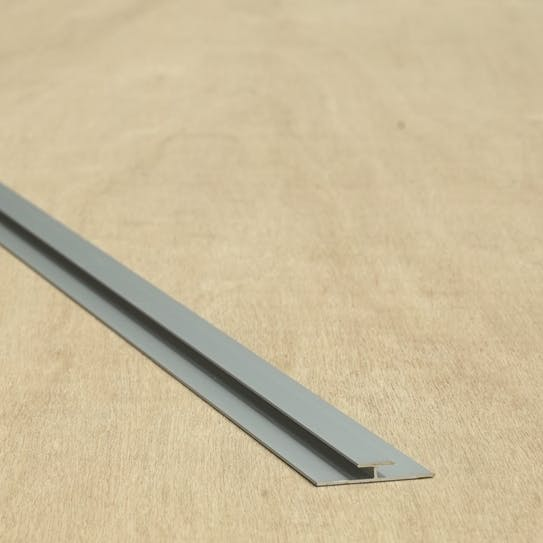 Versatile 2500mm Satin Anodised Aluminium H Section 3mm