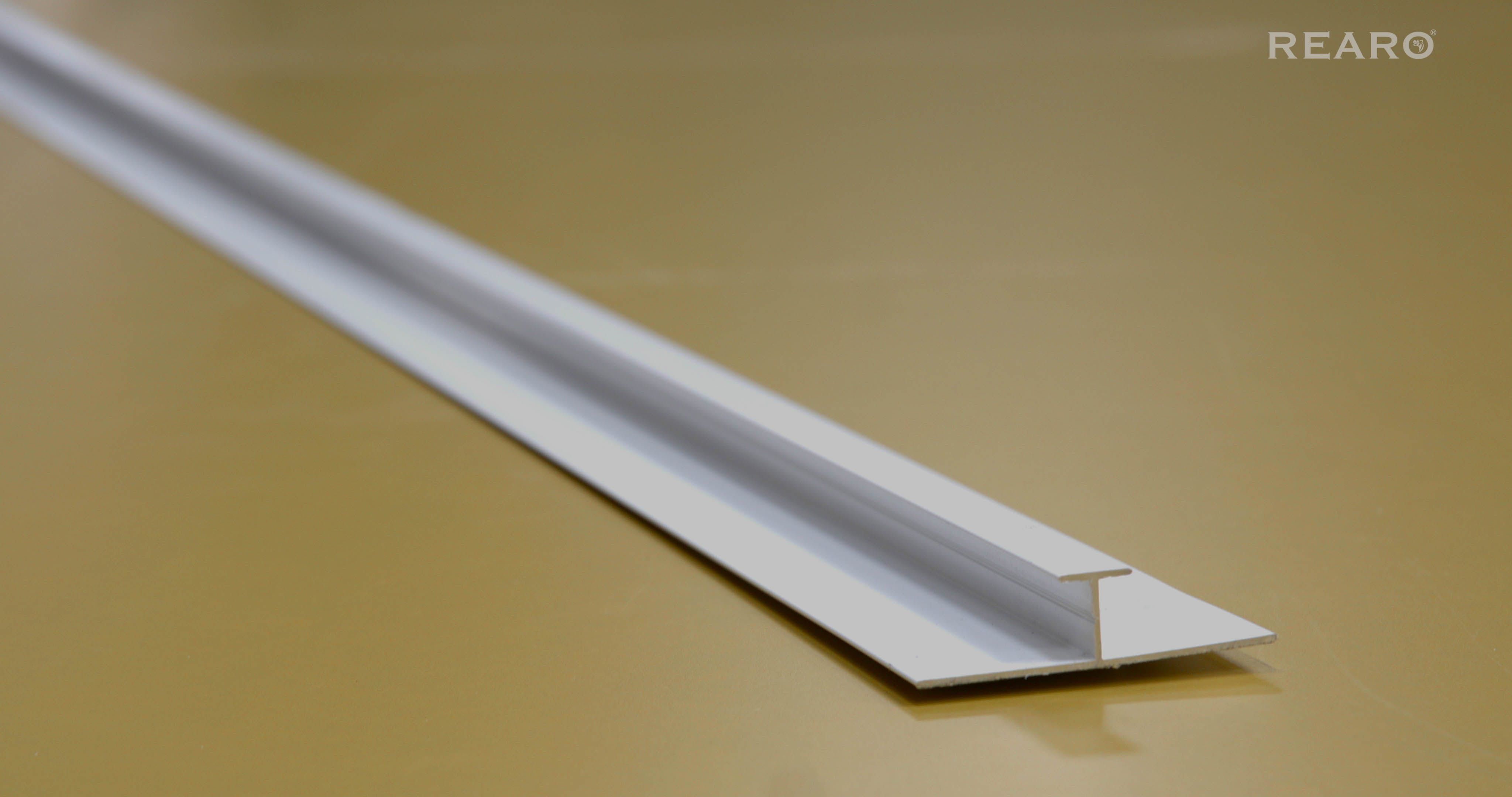 Selkie/Max-fit 2420mm White Powder Coated Aluminium H-Section (11mm)