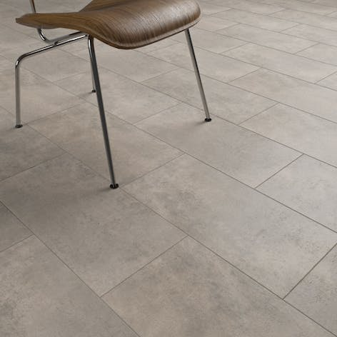 Clixeal Light Concrete Tile Effect Click Vinyl Flooring 148 Square